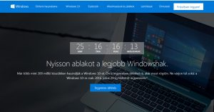 Windows 10 frissítés marketing